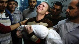Jihad Misharawi mourns the killing of his 11-month-old son in Gaza