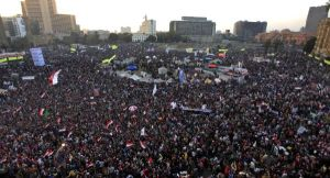 The Egyptian people once again return to Tahrir square on the second anniversary of the revolution that ejected former President Mubarak. The anger is now directed at President Morsi.