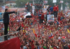 Chavez campaigning in 2012