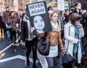 A 2012 protest for abortion rights after Savita Halappanavar died in Ireland after having been denied a termination.