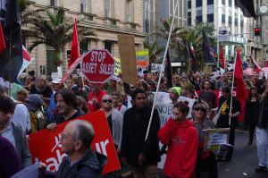 Marching in Auckland 1