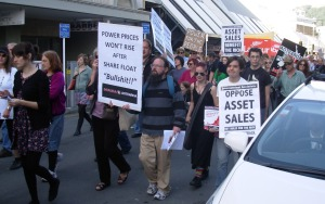 Protesters in Wellington 1