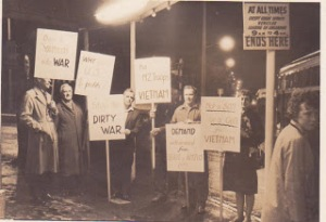 1964 Auckland anti-war demo (from Barry Lee's blog history of the PYM.)