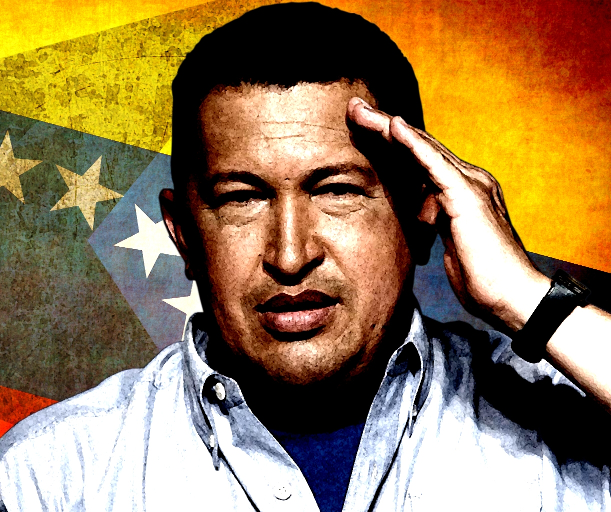 Hugo Chavez was a figure that had the neoliberals of the world worried. He led a democratic sweep of changes across his country, appropriating businesses, ... - hugo_chavez_by_drunah-d5x66cl