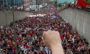 Student protest in Montreal, Quebec, 22 May 2012