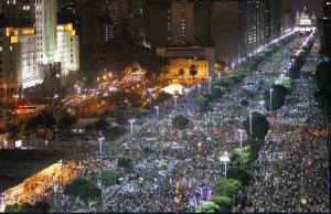 Millions march in  over 100 Brazilians cities (20/06/2013)