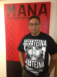 Mana Movement leader Hone Harawira in solidarity with the campaign
