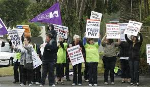 Care Workers Strike Upper Hutt
