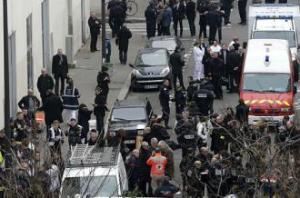 Charlie Hebdo crime scene-a