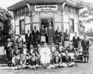 Tupua Tamasese Lealofi III and other Mau leaders and activists - heroes in the struggle for a free Samoa
