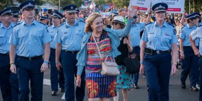 Judith Collins at Pride