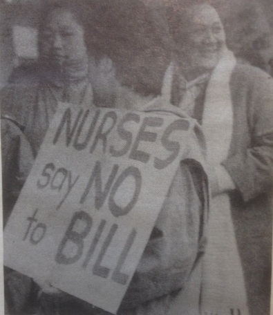 Nurses Say No to Bill