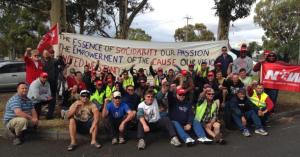 NUW workers in Australia occupying a Dandenong factory, 2015