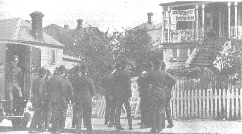 Police attempt eviction in Ponsonby 1931